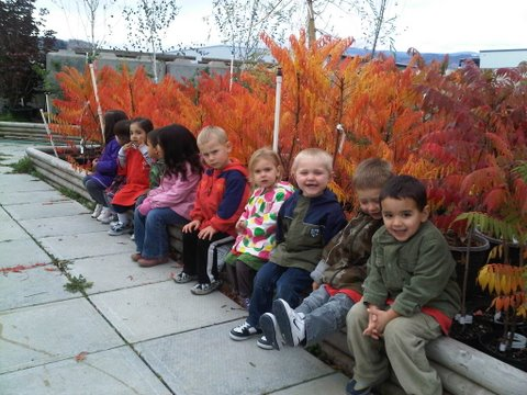 Future Gardeners from  Daycare touring Art Knapp's